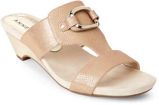 Anne Klein Bronze Teela Wedge Sandals