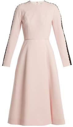 Emilia Wickstead Dionne Macrame Trimmed Crepe Dress - Womens - Light Pink