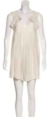 Miu Miu Silk-Blend Ruffled Dress
