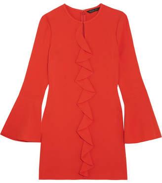 Rachel Zoe Monner Ruffled Crepe Mini Dress - Coral
