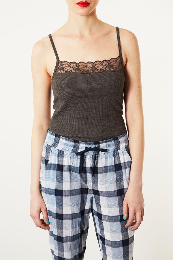 Topshop Lace Insert Pyjama Cami