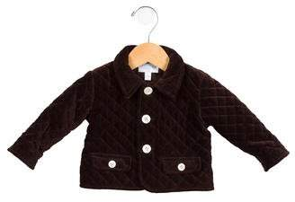 Baby CZ Girls' Quilted Velvet Jacket