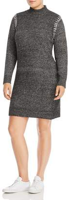 One A Plus Whipstitched Sweater Dress