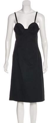 Miu Miu Bustier Knee-Length Dress
