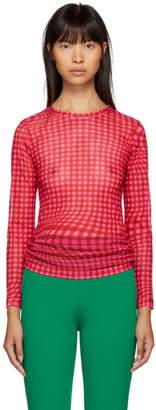 Molly Goddard Pink Gingham Freddie T-Shirt