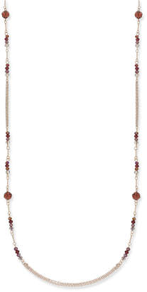 INC International Concepts I.n.c. Rose Gold-Tone Long Beaded Statement Necklace, Created for Macy's