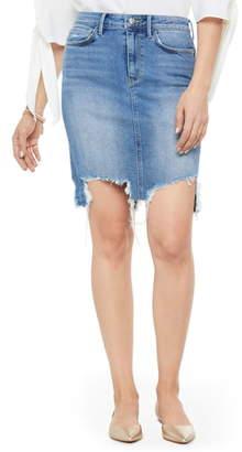 aa3738fc6e Sam Edelman Riley Destroyed Denim Skirt