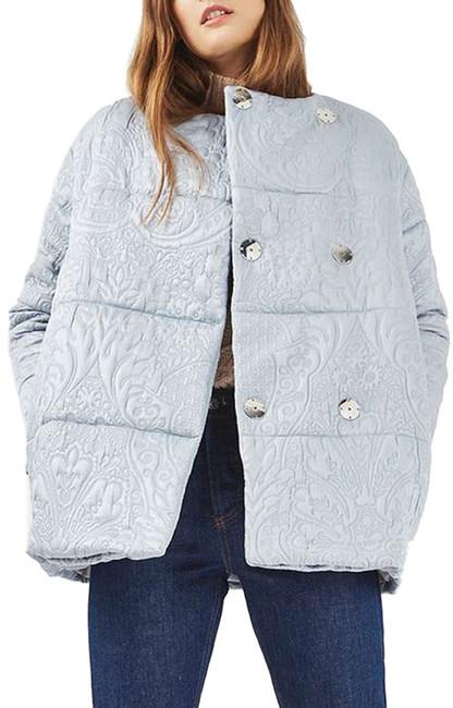 TopshopTOPSHOP Jacquard Satin Puffer Jacket