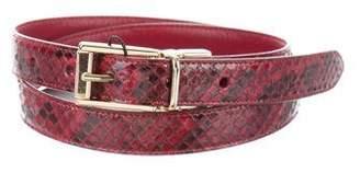 Dolce & Gabbana Snakeskin Reversible Belt w/ Tags