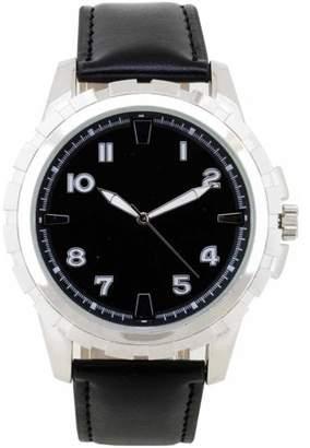 Unbranded Women's Black Sliver Sporty Watch, Black Band
