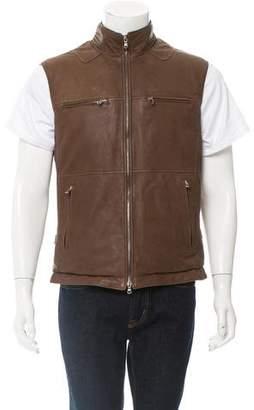 Brunello Cucinelli Reversible Leather Vest