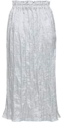 Gentryportofino Metallic Woven Midi Skirt