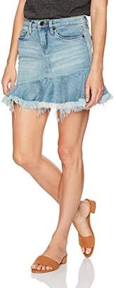 Blank NYC [BLANKNYC] Women's Ruffle Hem Mini Denim Skirt