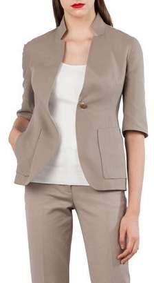 Akris Reversible Mock-Neck Jacket