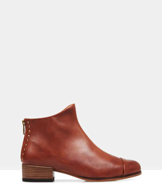 Beau5 Leather Ankle Boots