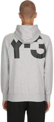 Y-3 Logo Zip-Up Cotton Sweatshirt Hoodie