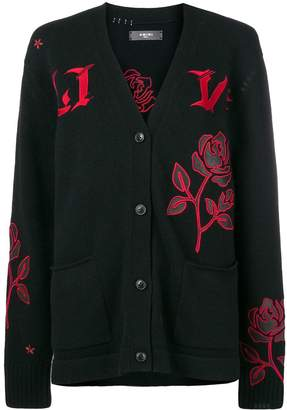 Amiri embroidered flower cardigan