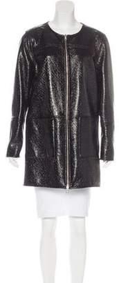 Tory Burch Reversible Jacquard Coat