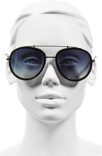 Women's Kendall + Kylie Jules 58Mm Aviator Sunglasses - Matte Demi/ Matte Gold 2