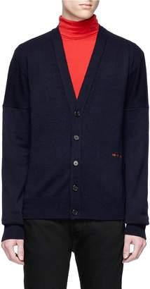 Calvin Klein Logo embroidered cashmere cardigan