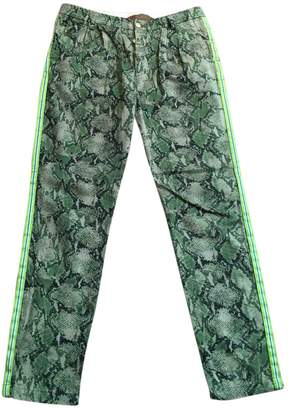 Green Cotton History Repeats Trousers for Women