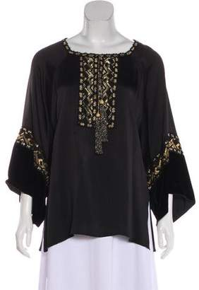 Andrew Gn Oversize Embroidered Blouse