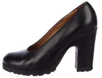 MM6 MAISON MARGIELA Leather Round-Toe Pumps
