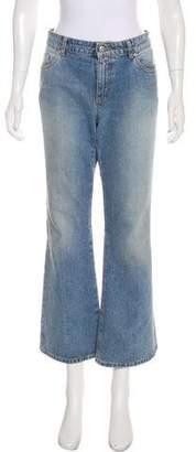 Alexander McQueen Mid-Rise Wide-Leg Jeans