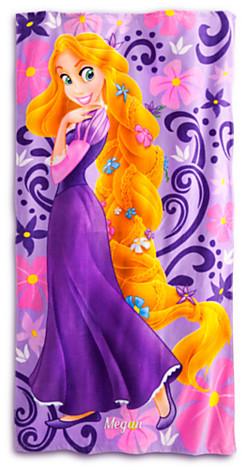 Disney Rapunzel Beach Towel - Personalizable