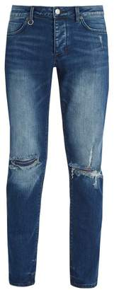 Neuw Iggy Ripped Knee Skinny Jeans - Mens - Blue