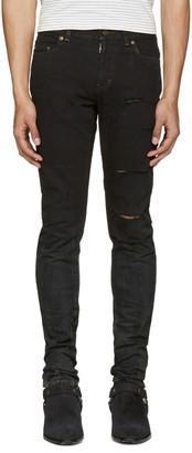 Saint Laurent Black Low Waisted Skinny Jeans $890 thestylecure.com
