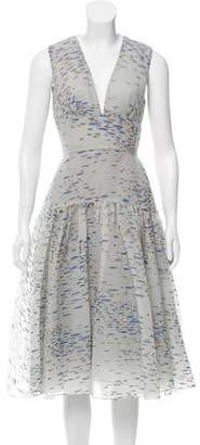 Lela Rose Sleeveless Brocade Dress w/ Tags