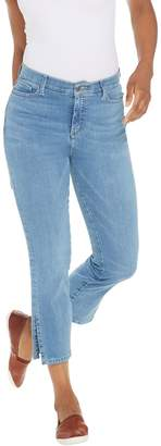 Isaac Mizrahi Live! Petite TRUE DENIM Ankle Jeans w/ Side Slits