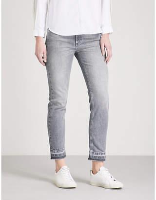 Claudie Pierlot Passiflore released-hem skinny mid-rise stretch-denim jeans