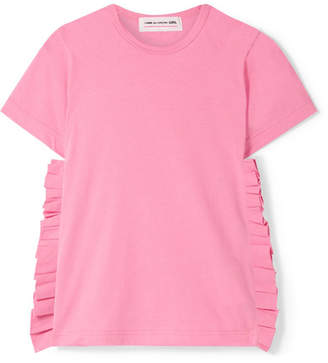 Comme des Garcons Ruffled Cotton-jersey T-shirt - Pink
