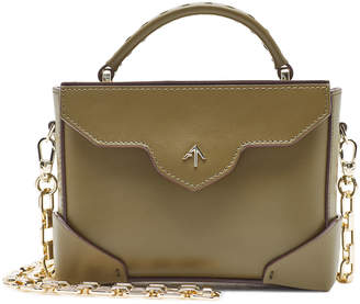 764f095b98 Atelier Manu Micro Bold Leather Shoulder Bag with Chain Strap