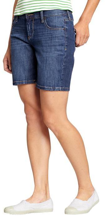 "Women's The Sweetheart Denim Bermudas (7"")"