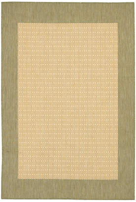 "Couristan Closeout! Area Rug, Recife Indoor/Outdoor 1005/5005 Checkered Field Natural-Green 2' 3"" x 7' 10"" Runner"