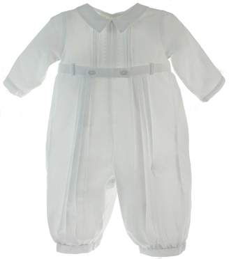Feltman Brothers Boys Christening Outfit Belted Romper Long Sleeves 3M