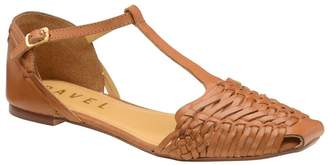 Ravel Womens Woven Flat Leather Shoes - Brown