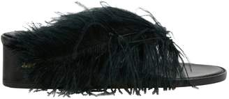 Tibi Leather flip flops