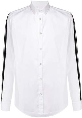 Les Hommes Urban contrast stripe shirt