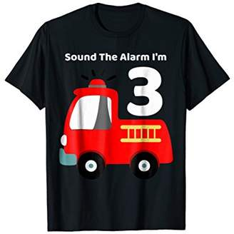 Fire Fighter Truck 3 Year Old Birthday Shirt | 3th Bday