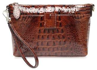 Vicenzo Leather Lena Croc Embossed Leather Crossbody