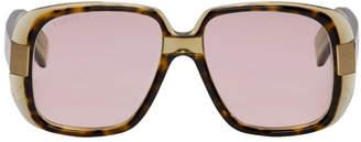 Gucci Tortoiseshell Oversized Cruise Square Sunglasses
