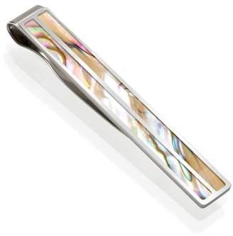 M-Clip Yellow Abalone Tie Clip