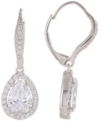 Nadri Sterling Silver Crystal Pear Drop Earrings