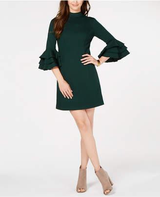 Trina Turk Ruffled Bell-Sleeve Dress