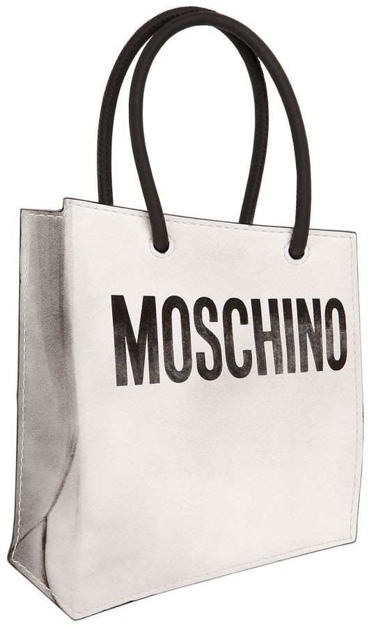 MoschinoShopping Bag Printed Leather Pouch