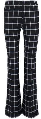 Derek Lam 10 Crosby Checked Flared Brushed Twill Pants